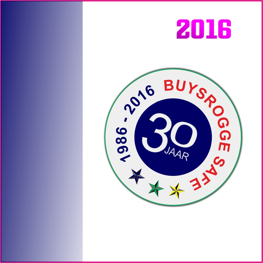 Logo buysrogge 30jaar marketing beweegt 2016